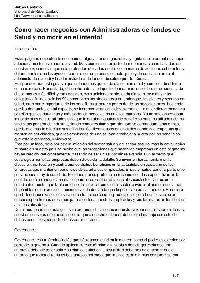 Ruben Cantafio Sitio oficial de Rubén Cantafio http://www.rubencantafio.com Como hacer negocios con Administradoras de fon...