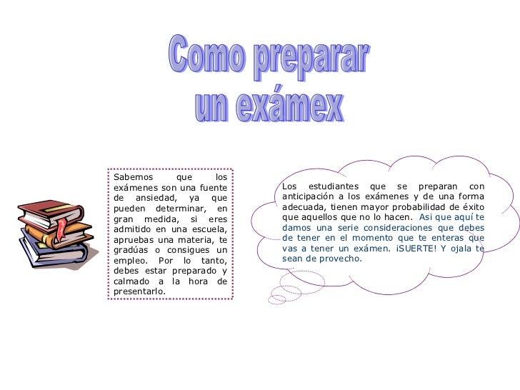 Como preparar un examen for Como cocinar un bogavante