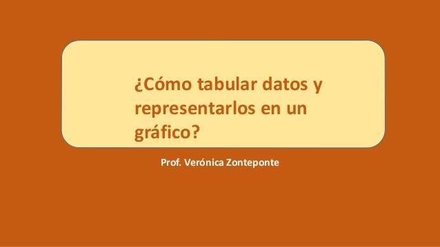 Prof. Verónica Zonteponte ¿Cómo tabular datos y representarlos en un gráfico?