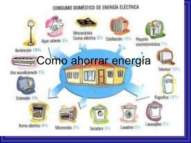 Por qué debemos ahorrar energía