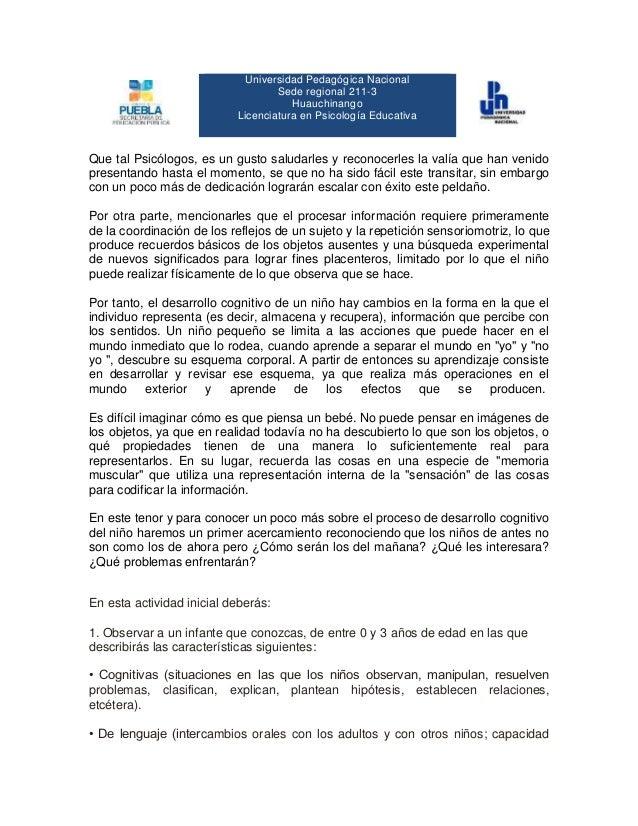 Universidad Pedagógica Nacional Sede regional 211-3 Huauchinango Licenciatura en Psicología Educativa Que tal Psicólogos, ...