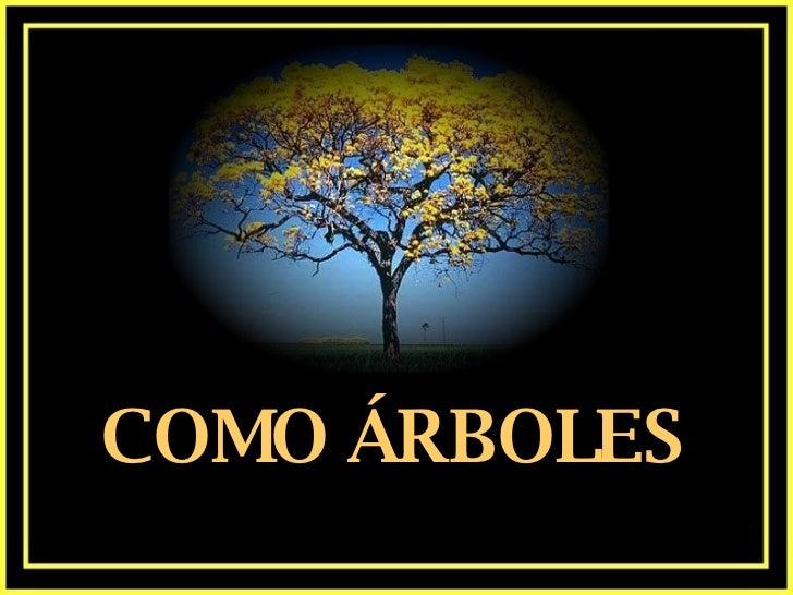 COMO ÁRBOLES