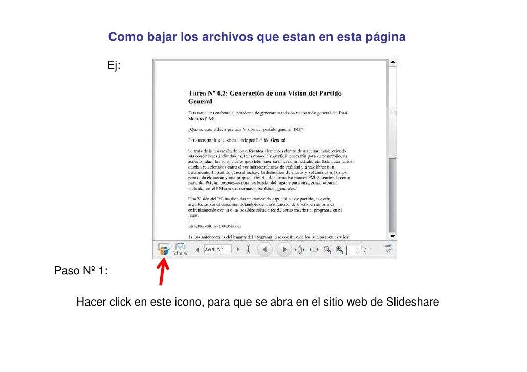 Como bajar los archivos que estan en esta página            Ej:     Paso Nº 1:      Hacer click en este icono, para que se...