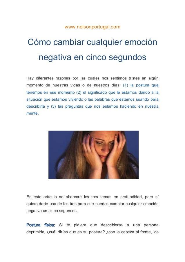 Como cambiar cualquier emocion negativa