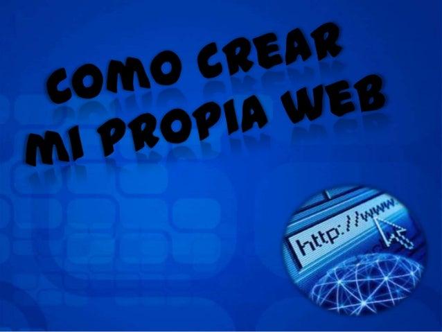 Como crear mi propia web
