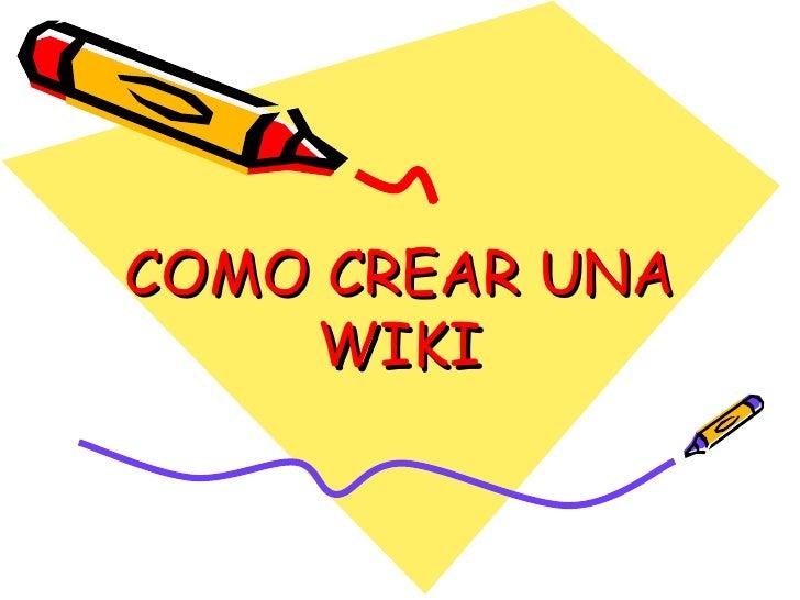 Como crear una wiki