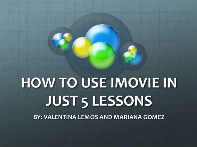 Como crear un proyecto de i movie