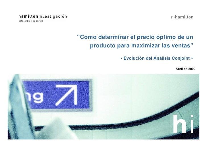 """""""Cómo determinar el precio óptimo de un    producto para maximizar las ventas""""                                            ..."""