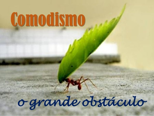 Comodismo o grande obstáculo