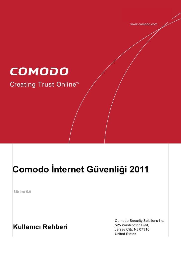 Comodo internet security 2011 ver. 5.0 Kullanim Klavuzu
