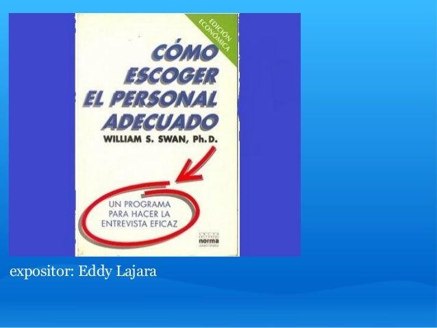 expositor: Eddy Lajara