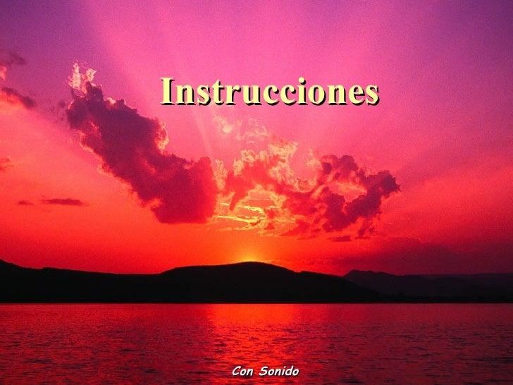 Instrucciones    Con Sonido