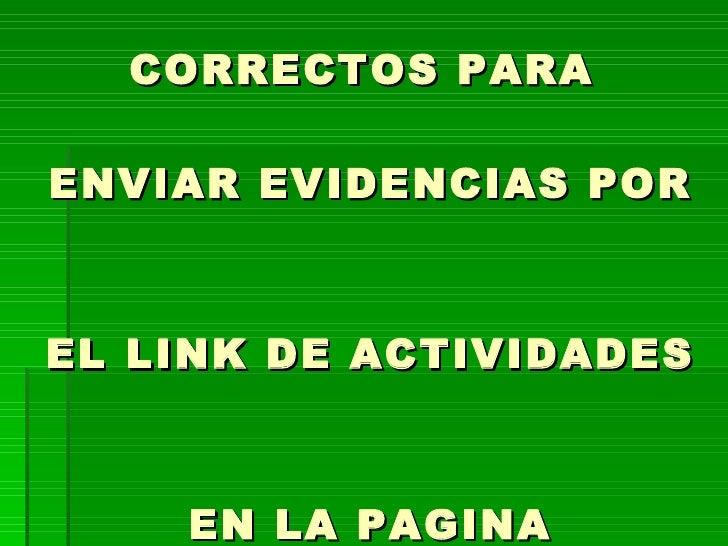 Como enviar evidencias