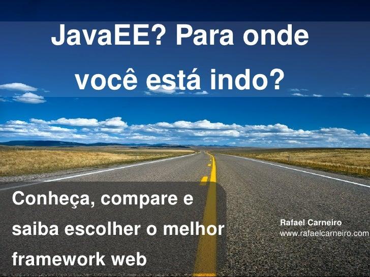 Como escolher um framework web