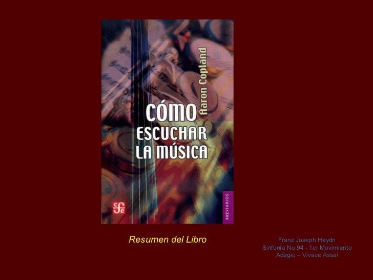Resumen  del  Libro  Franz Joseph  Haydn Sinfonía No.94 - 1er Movimiento Adagio – Vivace Assai