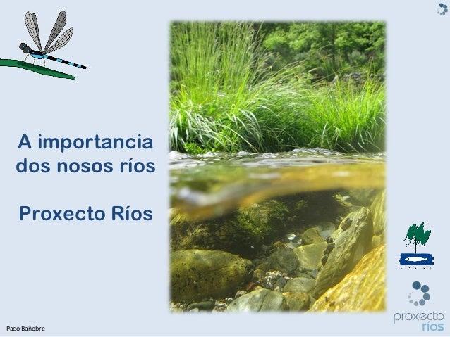 A importancia  dos nosos ríos   Proxecto RíosPaco Bañobre