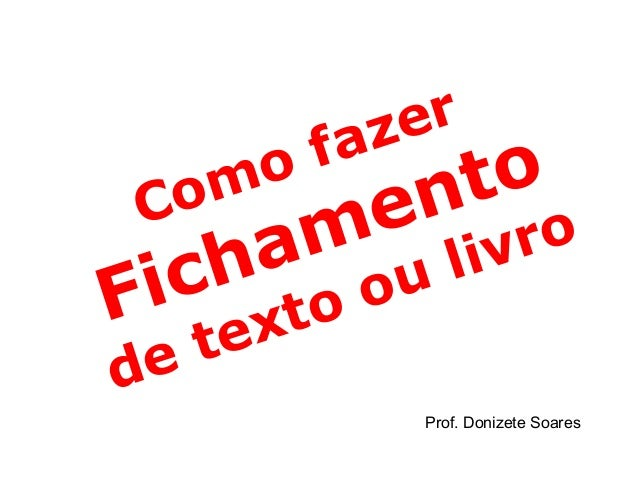 azer         f Com o            e n to    h a m       l ivro i c to o uF ex  e td             Prof. Donizete Soares