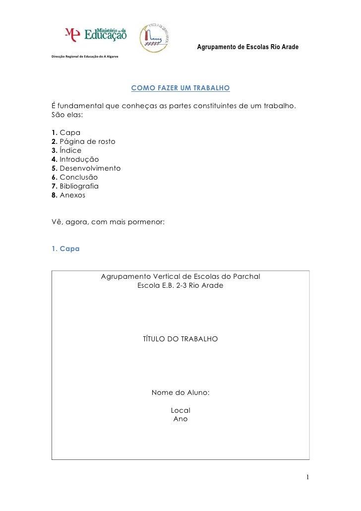 Agrupamento de Escolas Rio Arade Direcção Regional de Educação do A Algarve                                               ...