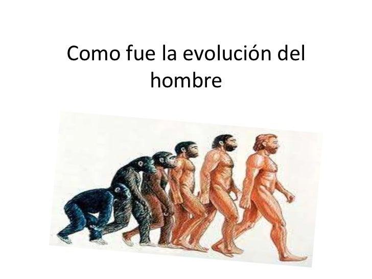 Como fue la evolución del       hombre