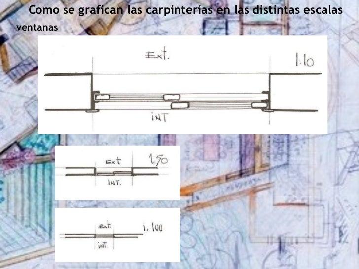 Como se grafican las carpinterías en las distintas escalasventanas