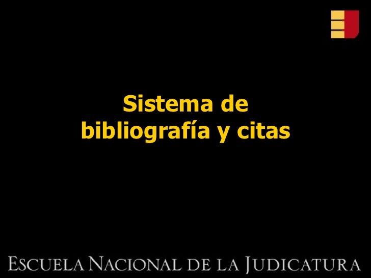 Sistema de bibliografía y citas