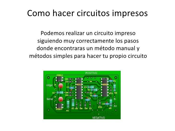 Circuito Impreso : Como hacer circuitos impresos