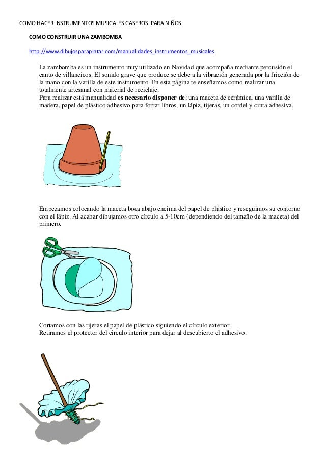 Como hacer instrumentos musicales caseros for Como construir pileta de material