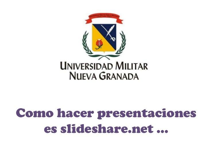 Como hacer presentaciones   es slideshare.net …