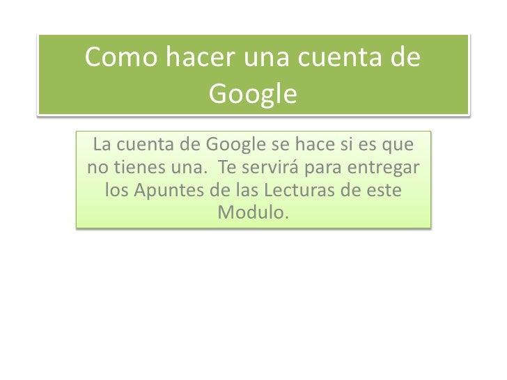 Como crear una nueva cuenta en Google