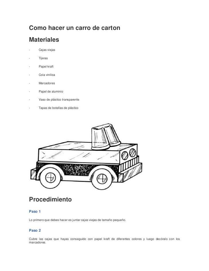 Como hacer un carro de carton - Como hacer un estor enrollable paso a paso ...