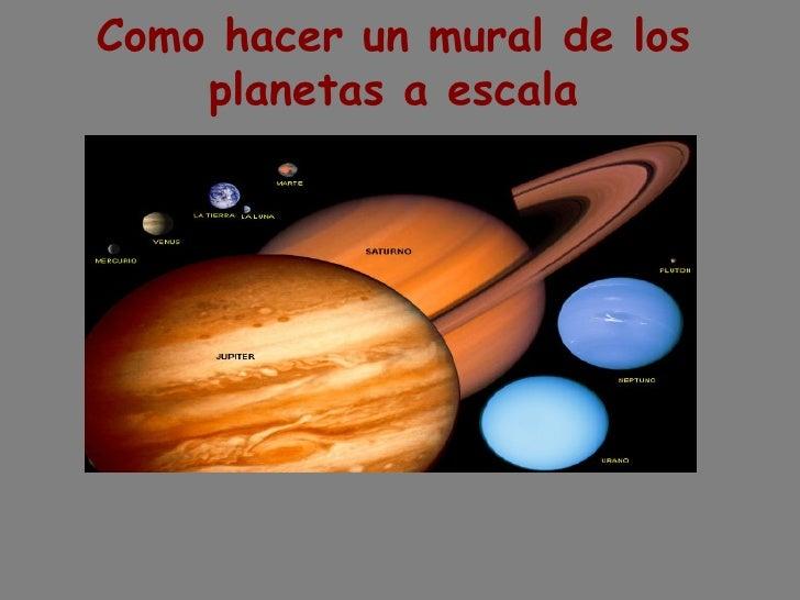 Como hacer un mural de los planetas a