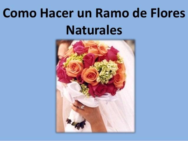 Como hacer un ramo de flores naturales - Como hacer un ramo de flores artificiales ...