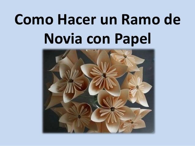 Como realizar un ramo de novia auto design tech - Como hacer un ramo de flores artificiales ...