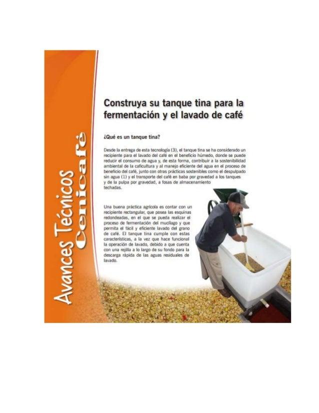 Avances Tetvlícos Cena ¡(za fé  construya su tanque tina para la fermentación y el lavado de café  ¿Qué es un tanque tina?...