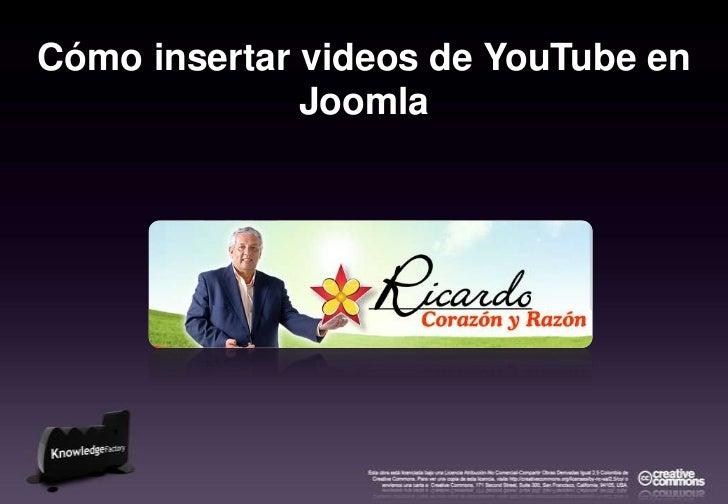 Cómo insertar videos de YouTube en Joomla<br />