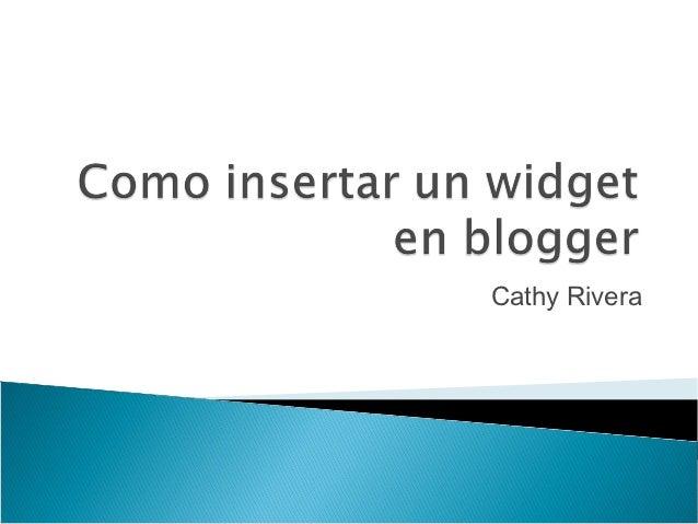 Cathy Rivera