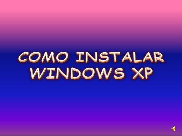 Como instalar windows xp katry
