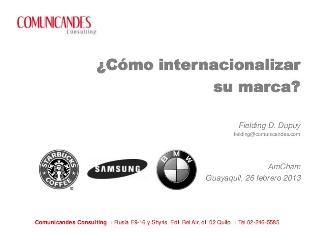 ¿Cómo internacionalizar                                  su marca?                                                        ...