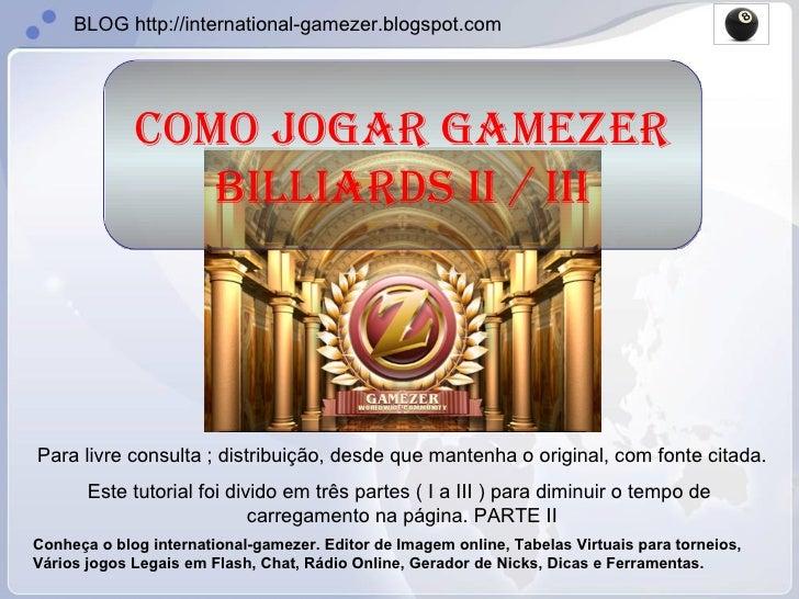 Como Jogar Gamezer Billiards Parte 2/3