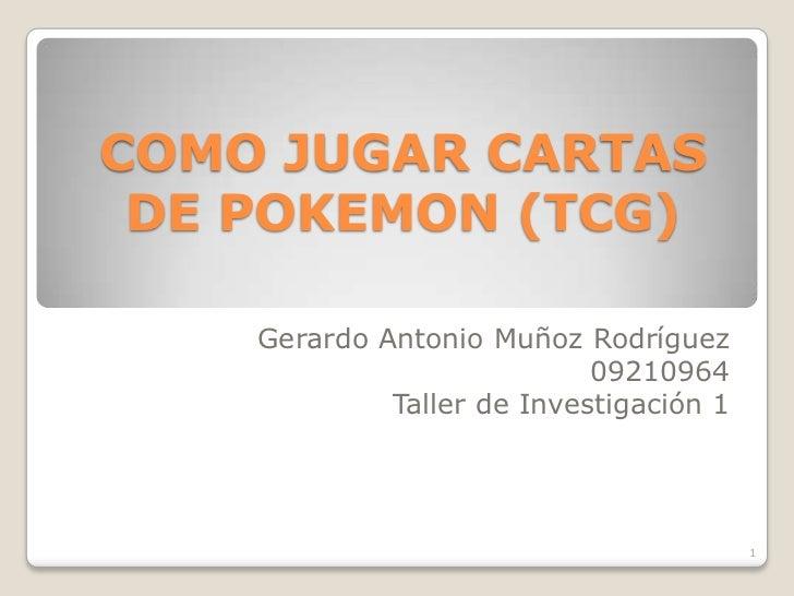 jugar pokemon cartas: