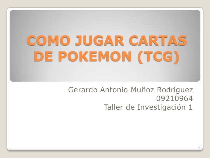 Como jugar cartas de pokemon (tcg)