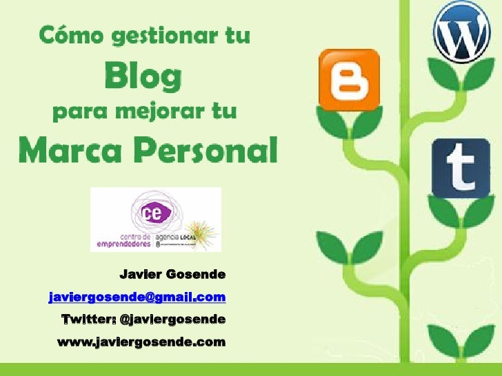 Javier Gosendejaviergosende@gmail.com Twitter: @javiergosende www.javiergosende.com