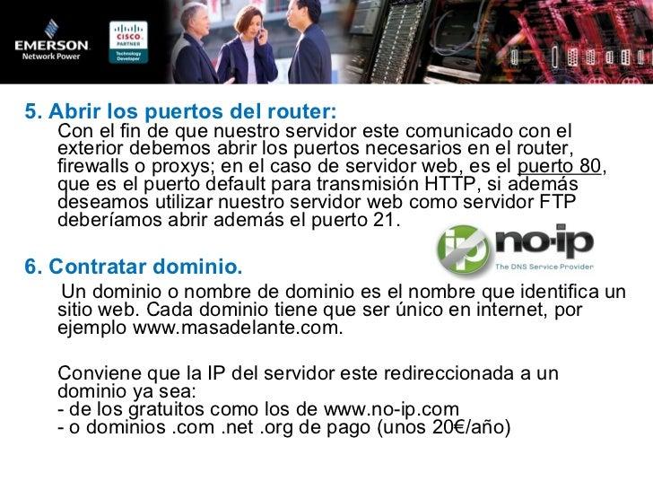 Como montar un servidor web en tu casa - Contratar solo internet en casa ...