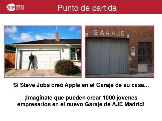 Punto de partidaSi Steve Jobs creó Apple en el Garaje de su casa...   ¡Imagínate que pueden crear 1000 jovenes empresarios...