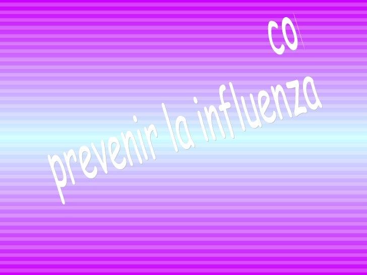 como prevenir la influenza