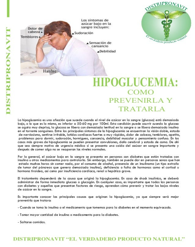 "DISTRIPRONAVIT ""EL VERDADERO PRODUCTO NATURAL"" DISTRIPRONAVIT HIPOGLUCEMIA: COMO PREVENIRLA Y TRATARLA La hipoglucemia es ..."
