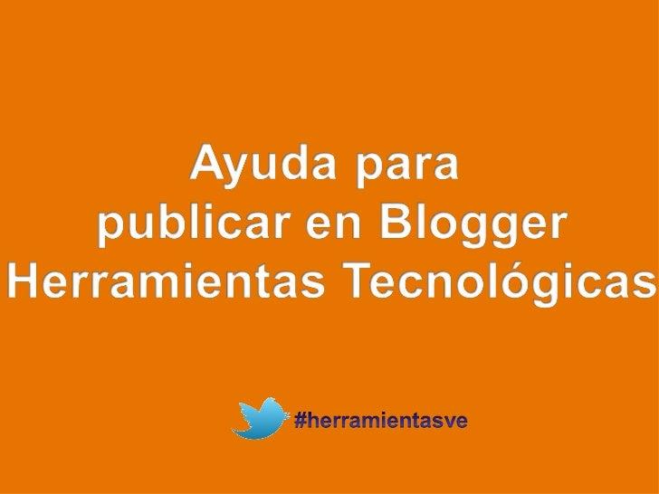 Como publicar en blogger