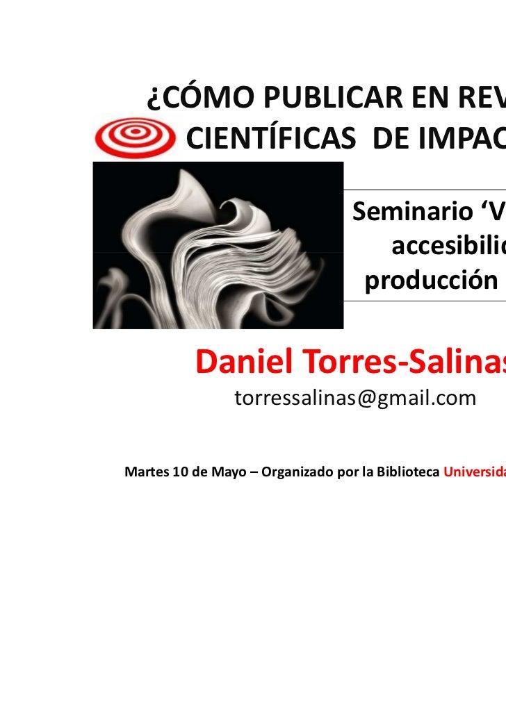 Como publicar en revistas científicas de impacto