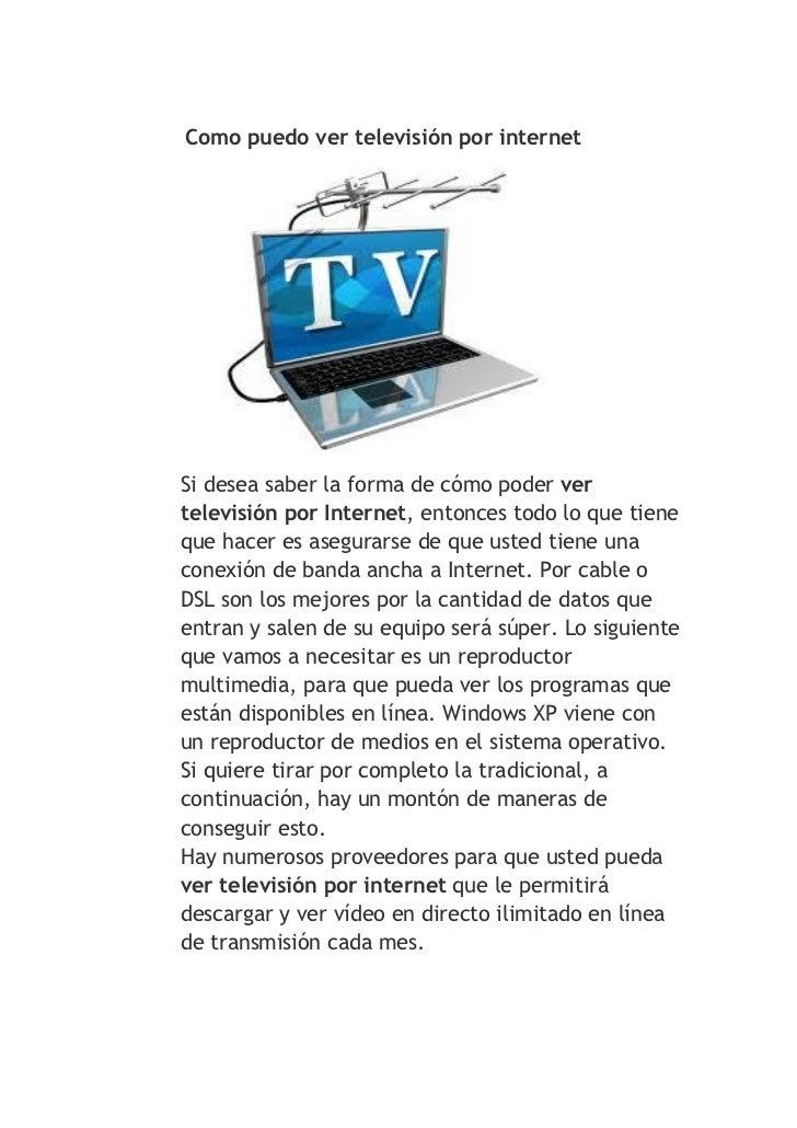 ver television por internet: