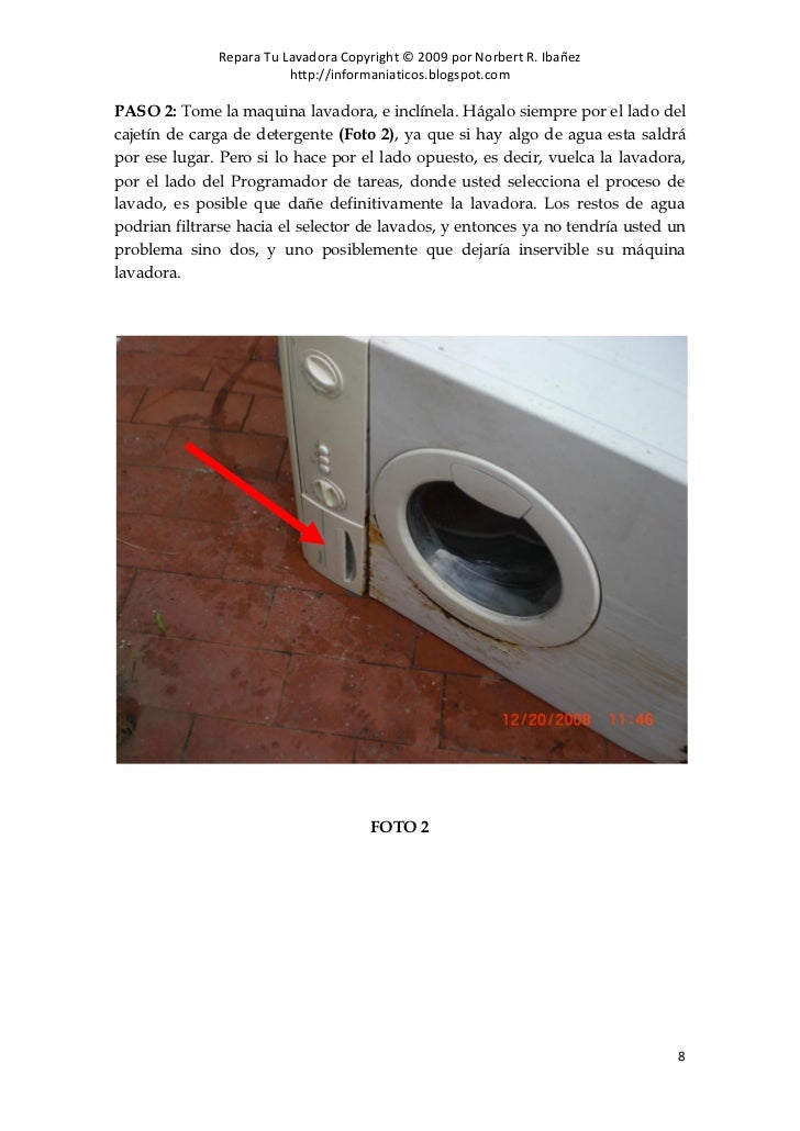 Como reparar tu mismo tu lavadora